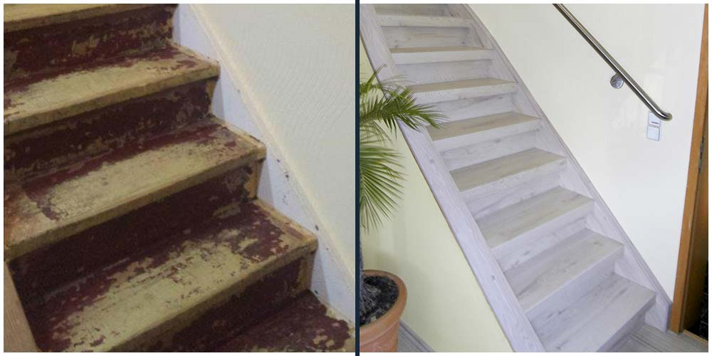 Treppenhaus mehrfamilienhaus gestalten  Ihr Treppensanierer